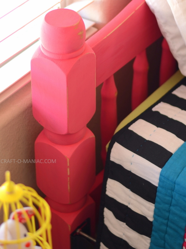 upcycled chalk paint pink bed13