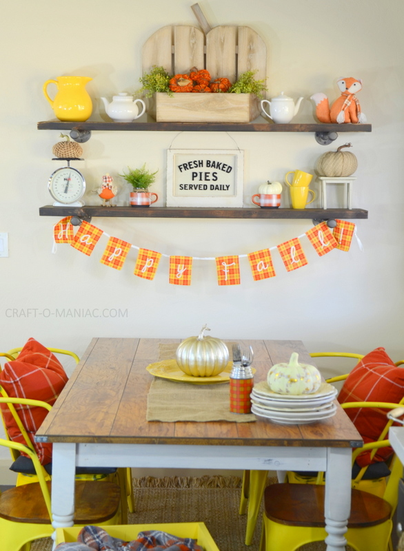 fall plaid kitchen decor16