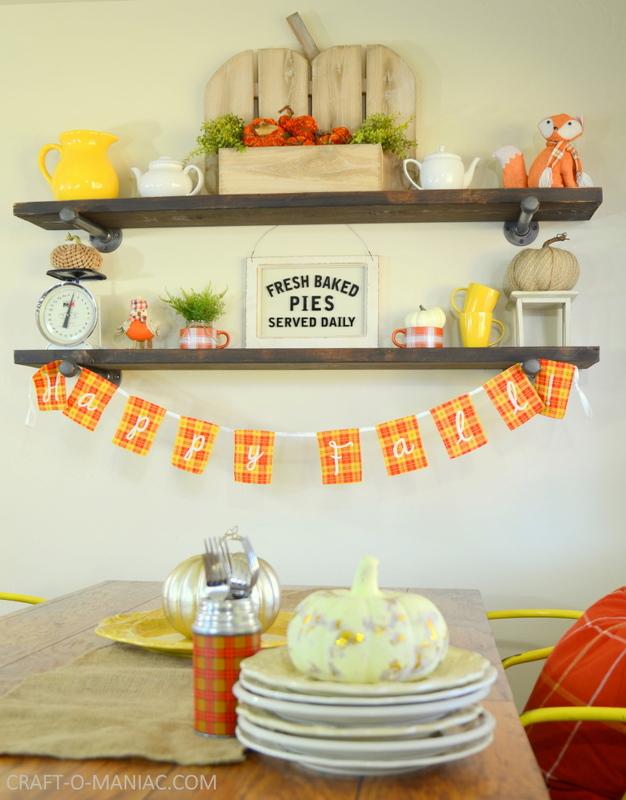 fall plaid kitchen decor20