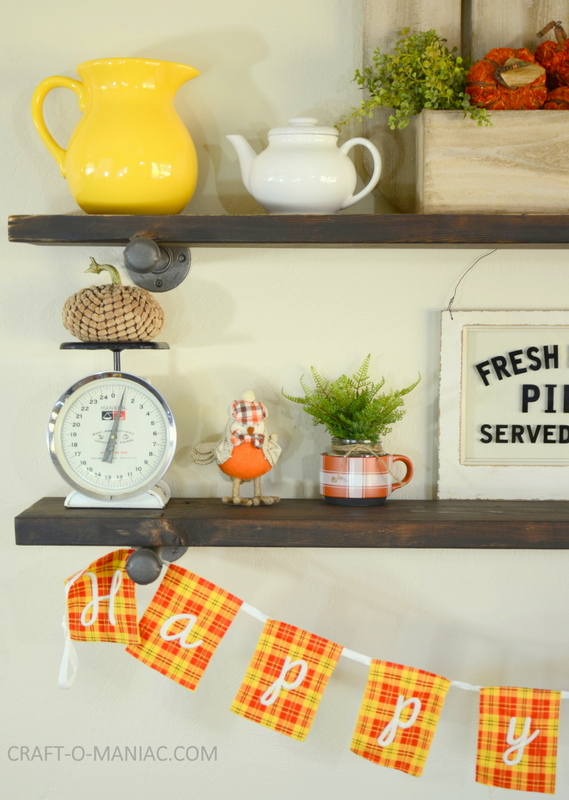 Adventures In Decorating Our 2015 Fall Kitchen: Plaid Fall Kitchen Decor
