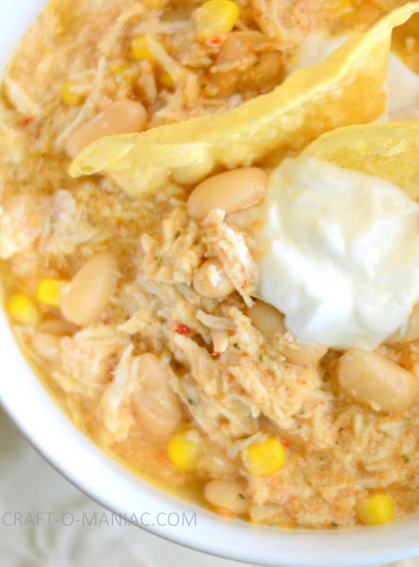 Chipotle Ranch White Bean Chicken Chili - Craft-O-Maniac