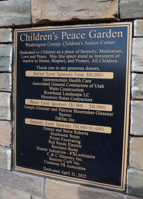 cdc peace garden plaque