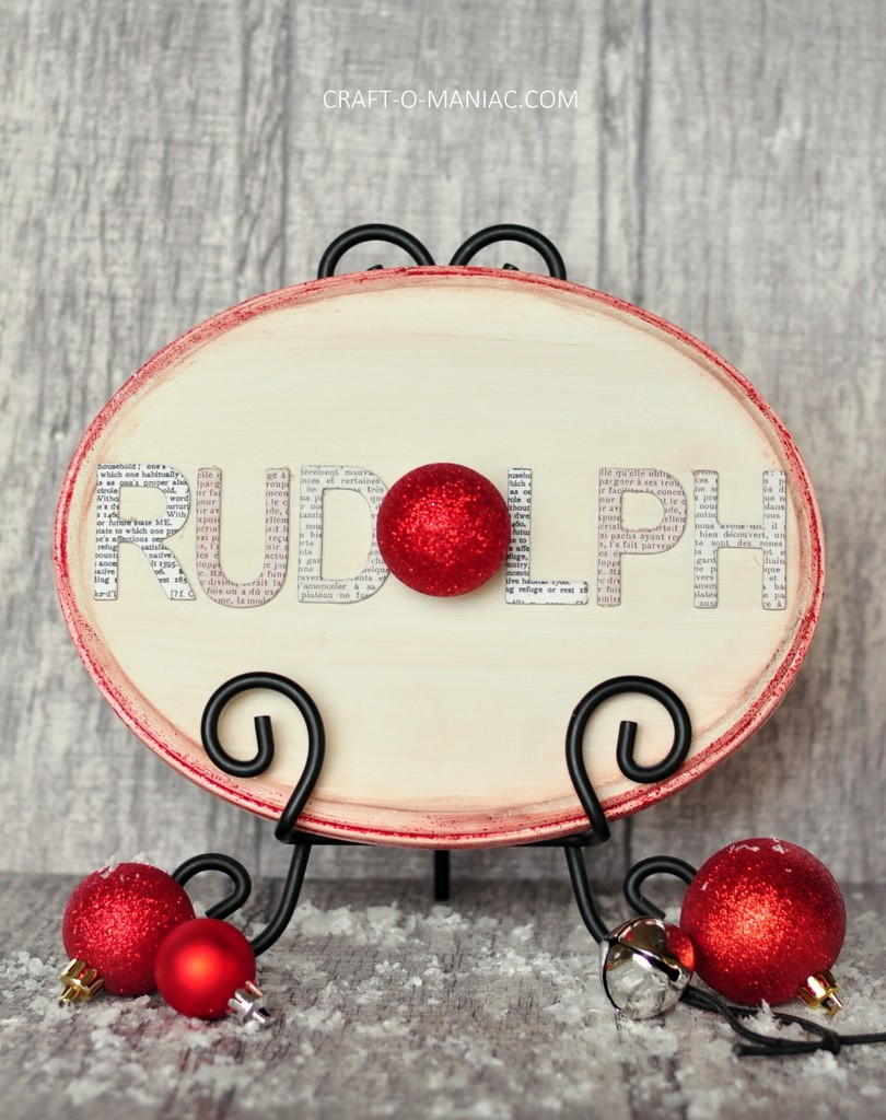 christmas rudolph sign