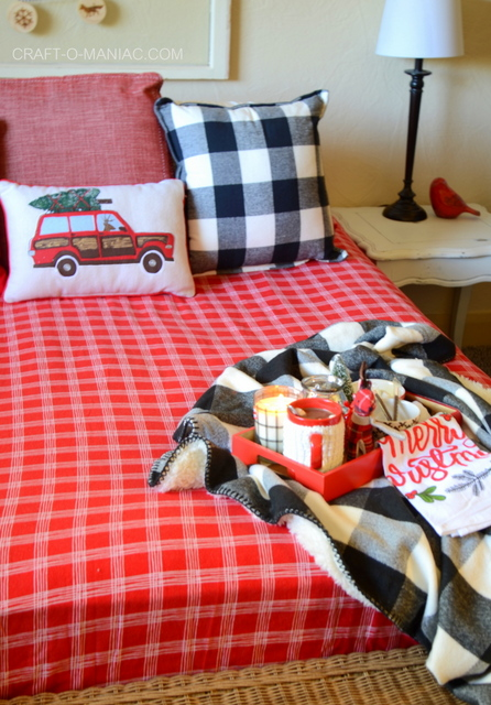 cozy plaid christmas bedding7