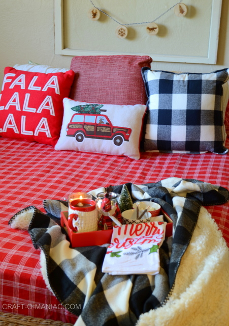 cozy plaid christmas bedding9