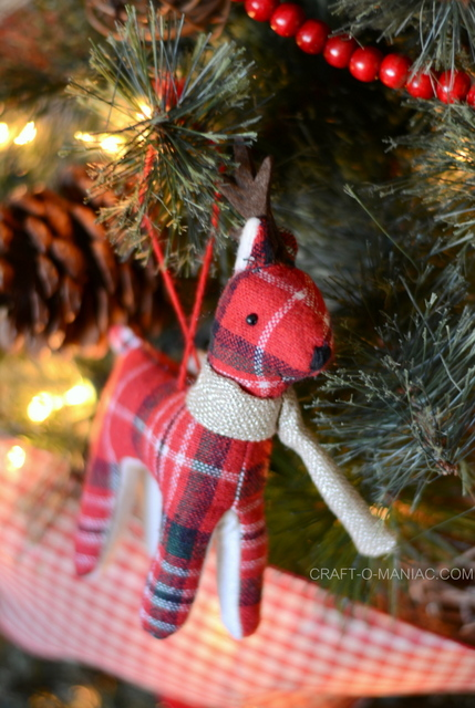 plaid woodland christmas tree13