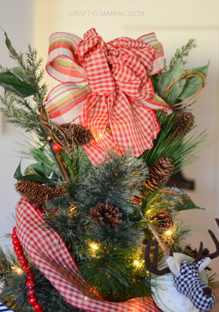 plaid woodland christmas tree15
