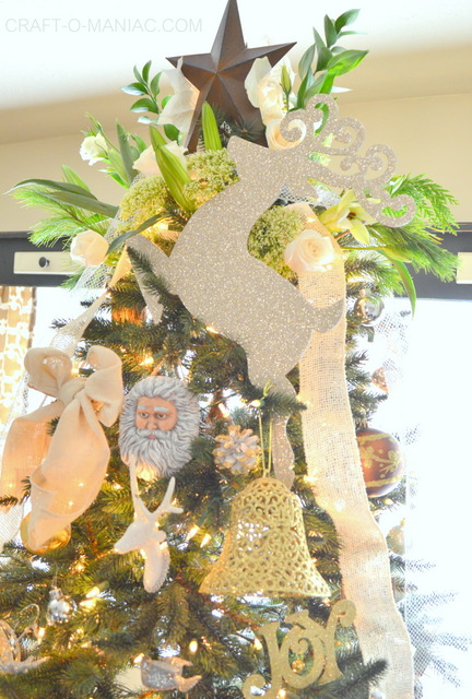 gold and cream christmas tree11