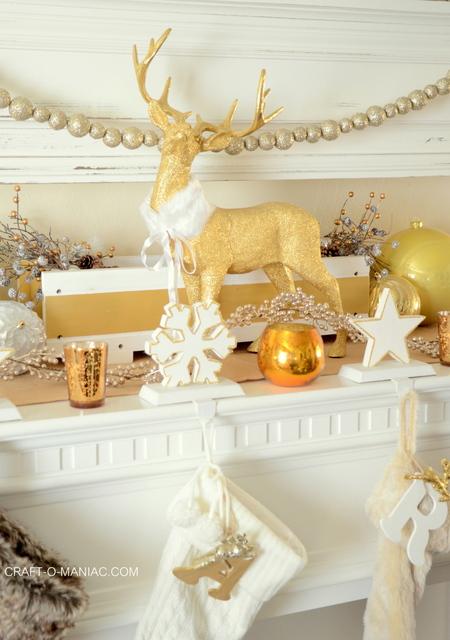 Gold And White Christmas Mantel Craft O Maniac
