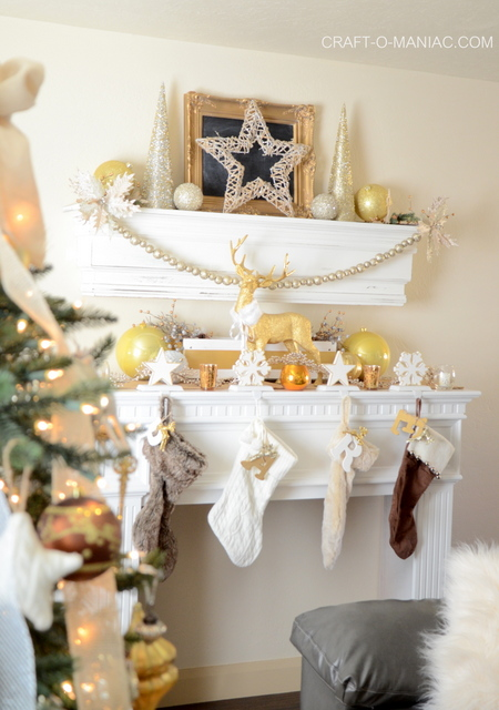 Gold And White Christmas Mantel Craft O Maniac