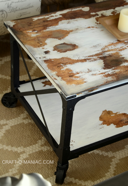 diy chalkpaint cowhide coffee table.3jpg