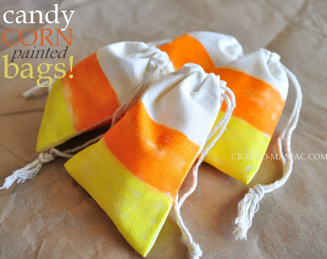 candy corn muslin bags