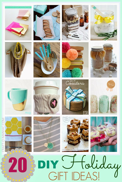 top 20 diy holiday gift ideas On homemade craft gift ideas
