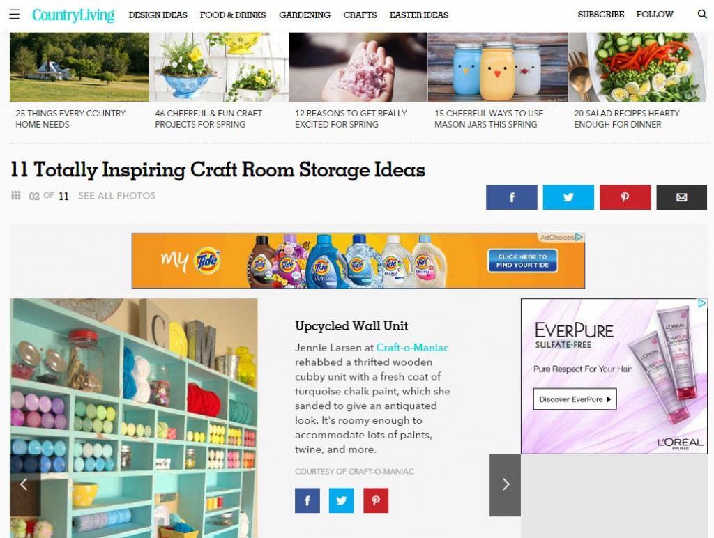 craft cubby share on country living