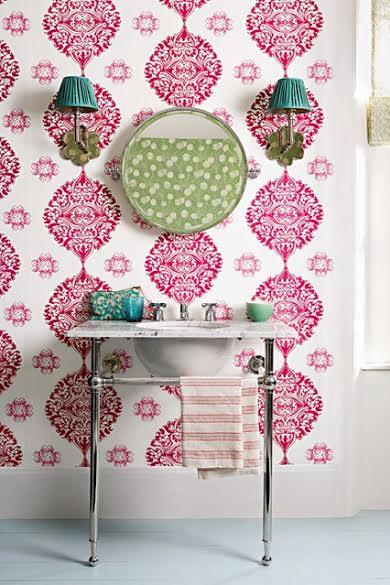 pink bedroom stencil