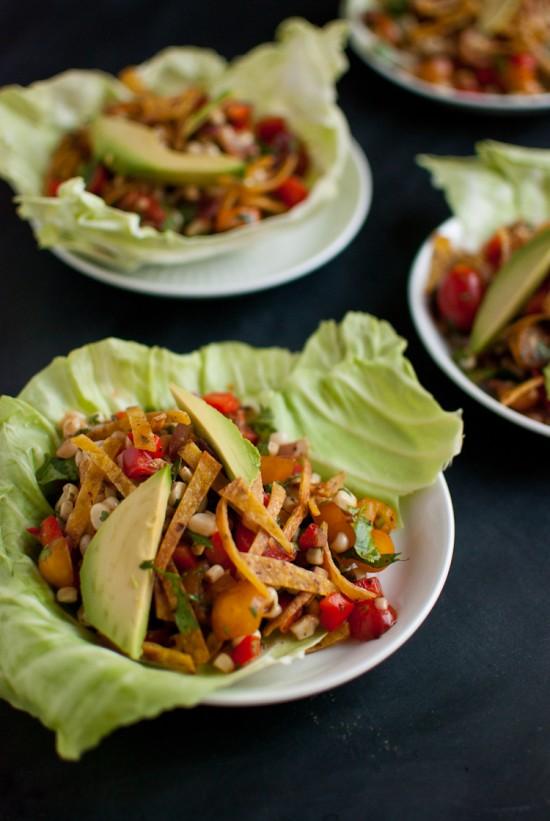 salad sweet-corn-salad-wraps-550x821