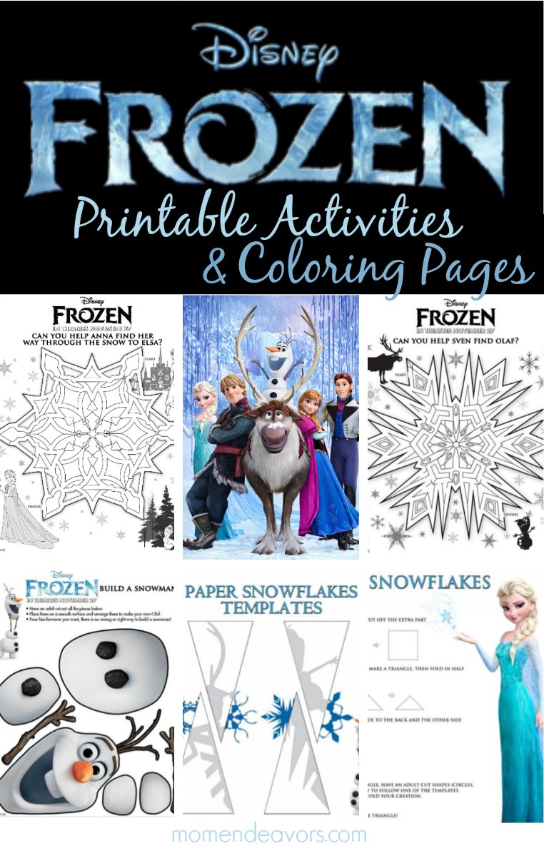 snowed in actviites frozen printable actvities