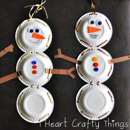 snowed in actvities paper plate snowmen