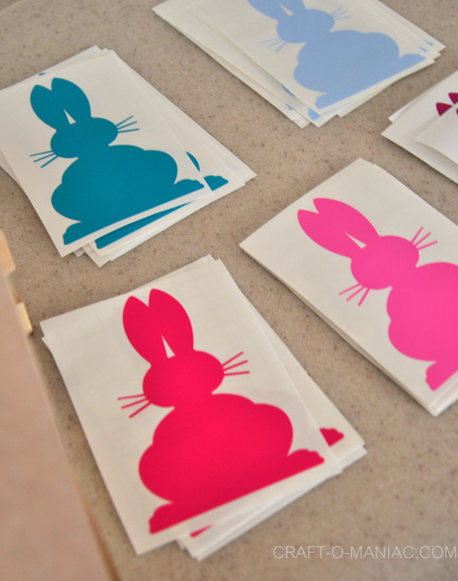 craft night bunny decals