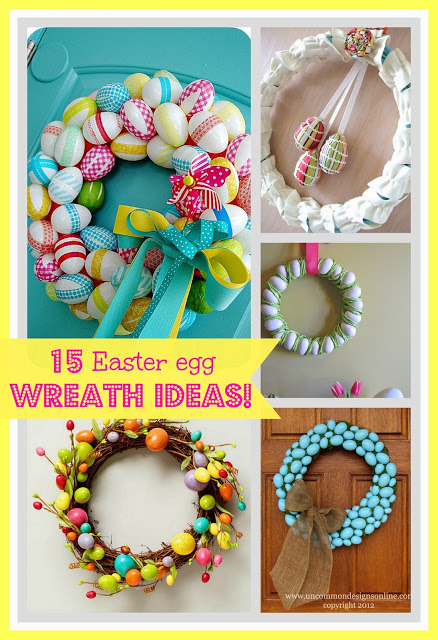 diy easter egg wreath collage