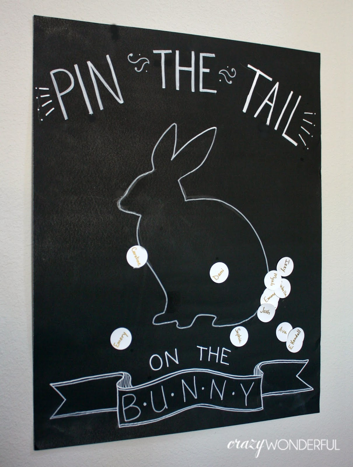 easter pin the tail on the bunny