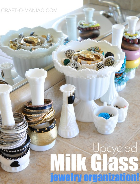 milk glass jewelry organization3pmwhite