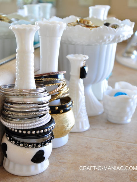 milk glass jewelry organization4