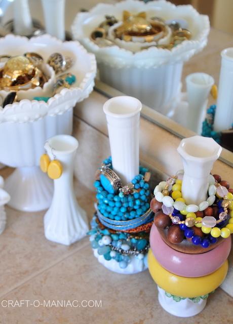 milk glass jewelry organization5