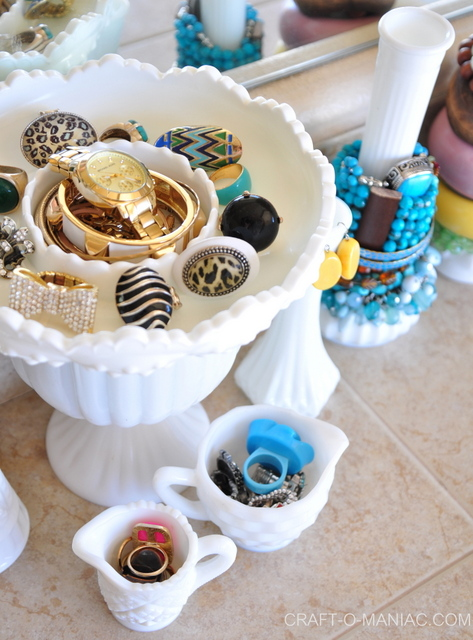 milk glass jewelry organizationfav