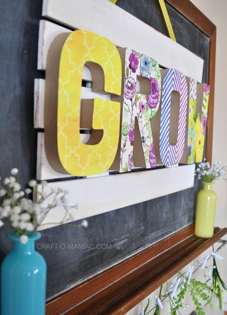spring grow sign side