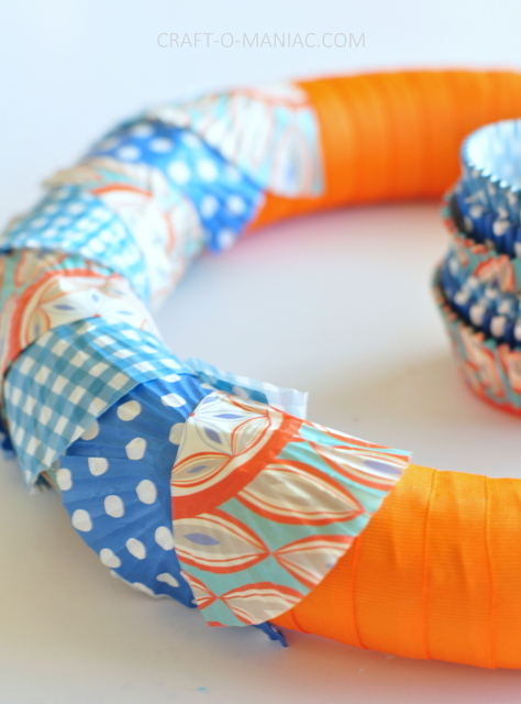 ribbon and cupcake liner wreath2
