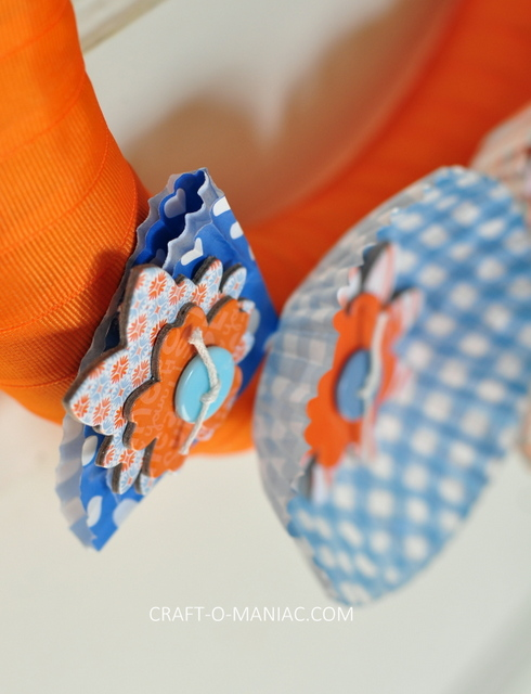 ribbon and cupcake liner wreath4