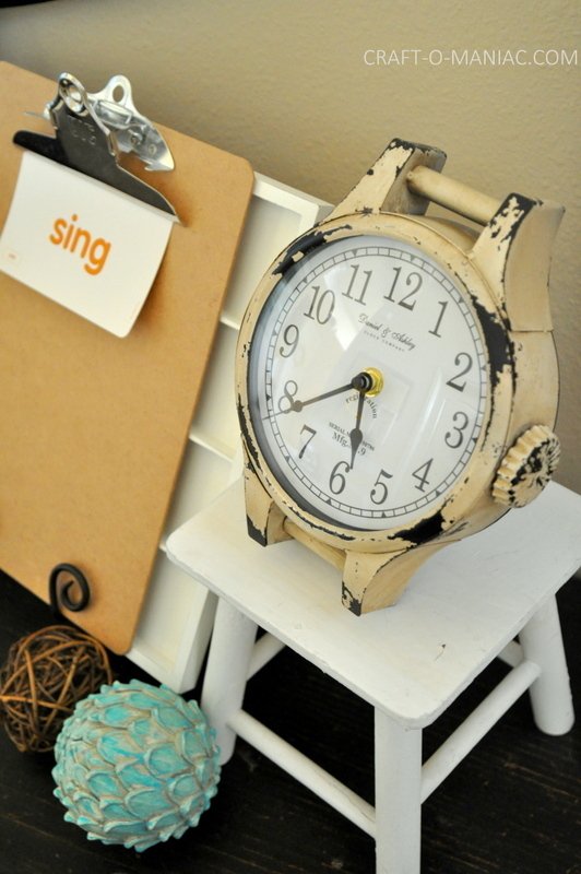 vintage eclectic entry table clock com