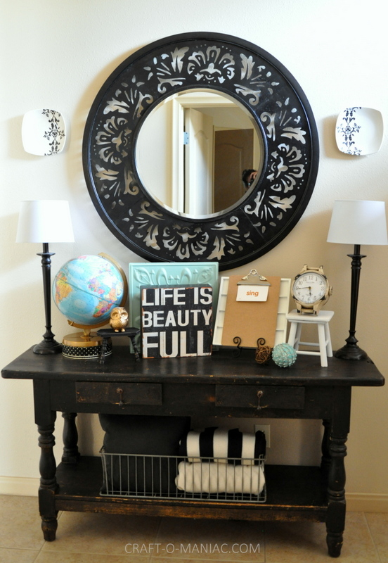 vintage eclectic entry table full com