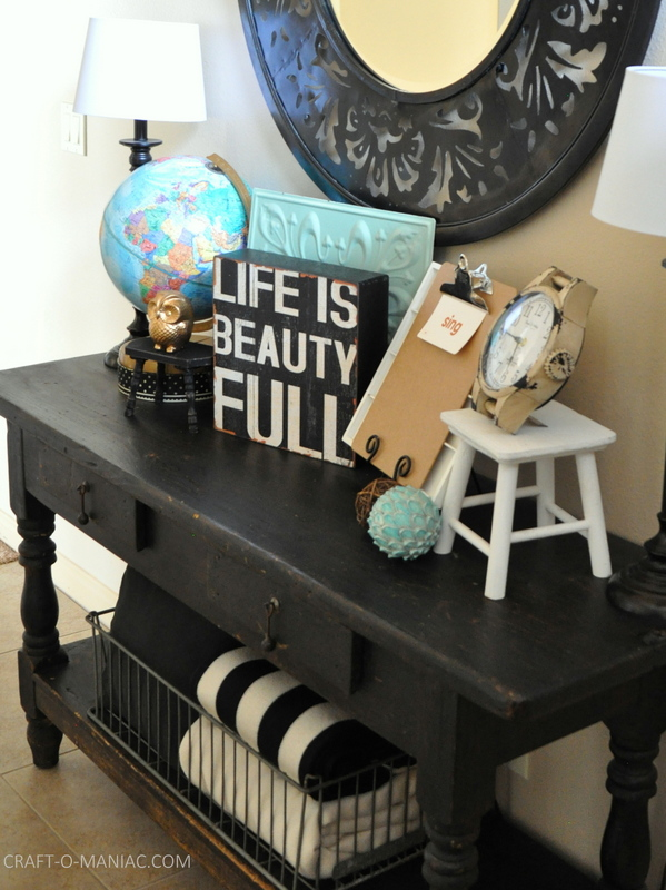 vintage eclectic entry table side1 com