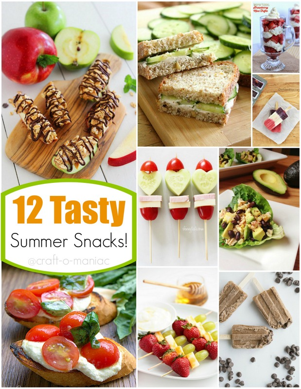 12 tasty summer snack collage pm
