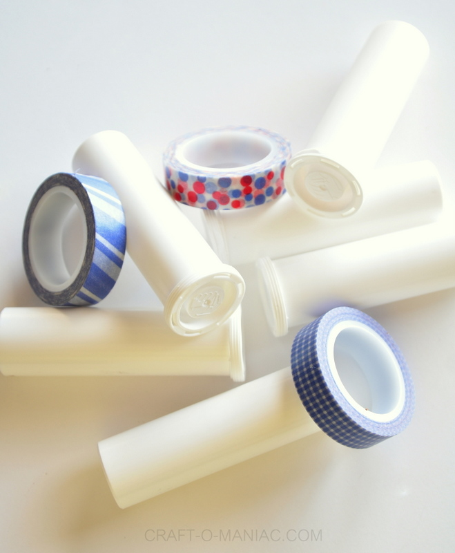 4th of july gumball container poppers washi tape