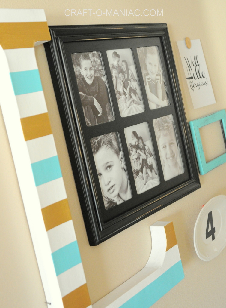 5 Piece Gallery Wall { lilluna.com } Great ideas for that awkward wall in your home!