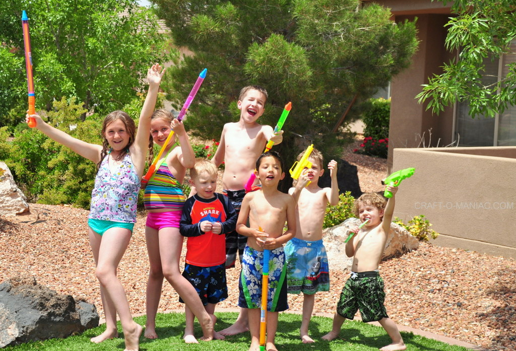kids summer water party