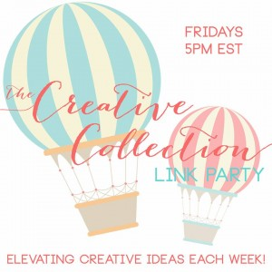 the creative collection link party button