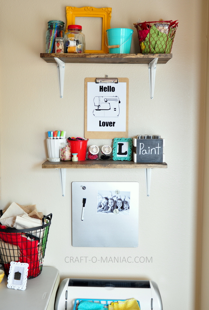 craft room makeover shelves