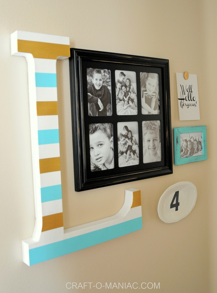 diy 10 minute gallery wall 10