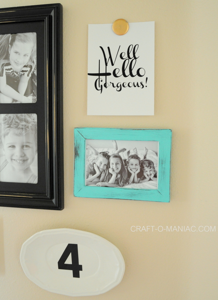 diy 10 minute gallery wall 4