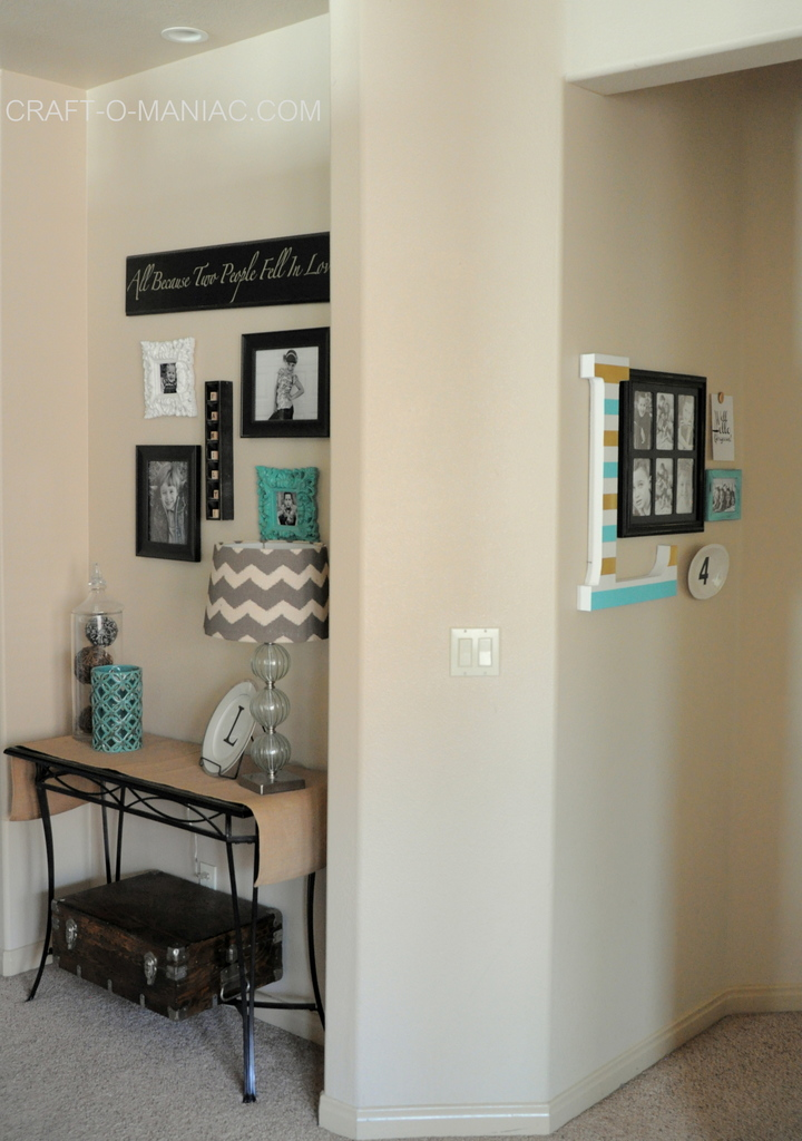 diy 10 minute gallery wall full shot