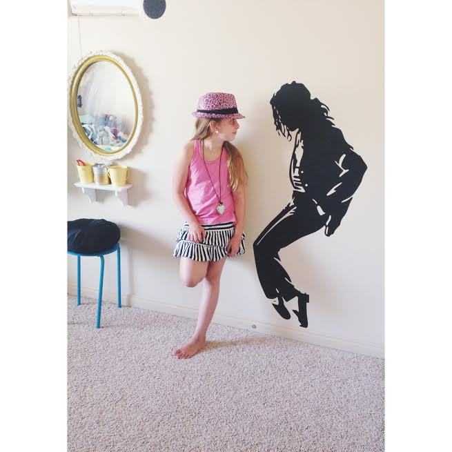 mj party bella mj decal