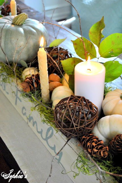 fall decor fall green centerpiece