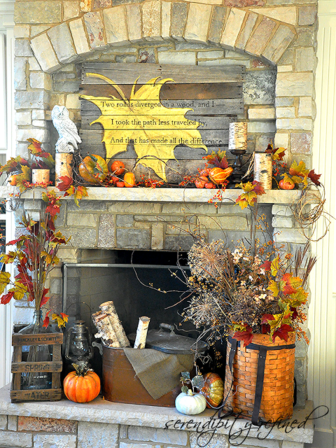 fall decor fall mantel 1