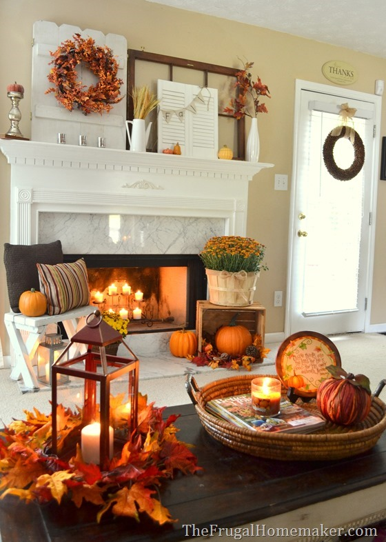 fall decor fall mantel 2