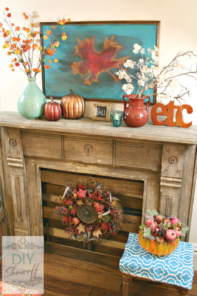 fall decor fall mantel 3