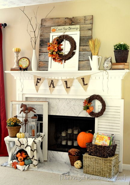 fall decor fall mantel